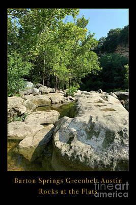 Rose - Barton Springs Greenbelt Austin Rocks at the Flats Poster by Felipe Adan Lerma