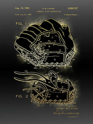 Sports Royalty-Free and Rights-Managed Images - Baseball Glove Construction Patent by Bekim M