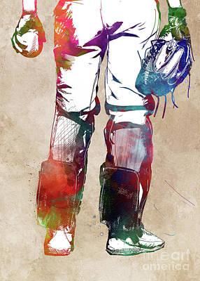 Abstract Graphics - Baseball player #baseball #sport by Justyna Jaszke JBJart