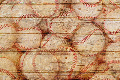 Sports Royalty-Free and Rights-Managed Images - Baseballs on weathered timber. by Joe Vella