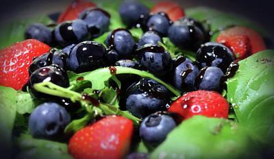 Studio Grafika Zodiac - Basil Strawberry Blueberry Arugula Salad by Johanna Hurmerinta