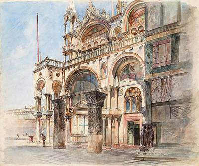 Landscape Photos Chad Dutson - Basilica of St. Mark in Venice by Ludwig Johann Passini