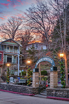 Curated Travel Chargers - Basin Spring Park Sunset - Eureka Springs Arkansas by Gregory Ballos