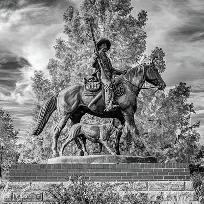 Just Desserts - Bass Reeves Monument in Fort Smith Arkansas NHS Monochrome 1x1 by Gregory Ballos
