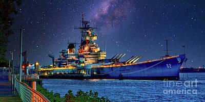 Thomas Kinkade - Battleship New Jersey at Night by Nick Zelinsky Jr