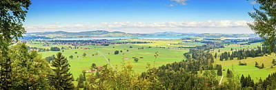 Classic Golf - Bavarian countryside panorama by Alexey Stiop