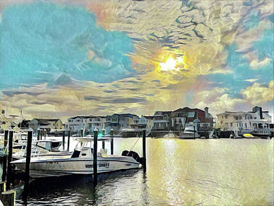 Surrealism Digital Art - Bay Area Living by Surreal Jersey Shore