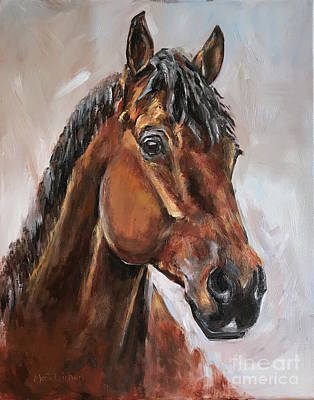 Painting - Bay Horse by Maria Reichert
