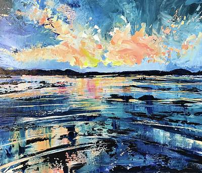 Painting - Bay view blue  by Julia S Powell
