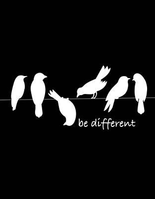 Car Photos Douglas Pittman - Be Different Black Bird Tee Tees T-Shirt Tshirt by Tony Rubino
