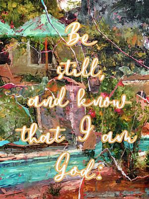 Mixed Media - Be Still and Know by Yobeth Puckett