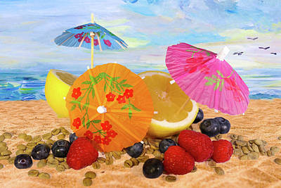 Design Turnpike Books Royalty Free Images - Beach Fun Still Life Royalty-Free Image by Jeff Burgess