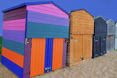 Superhero Ice Pop - Beach huts, Viking Bay Beach, Broadstairs, Kent, England. by Joe Vella