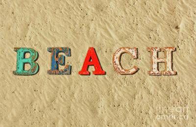 Wilderness Camping - Beach Letters Sand by Randy Steele