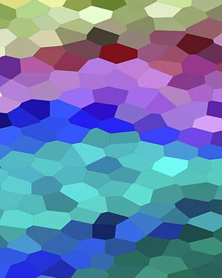 Royalty-Free and Rights-Managed Images - Beach Seascape Ocean Blue Mosaic Decor II by Irina Sztukowski