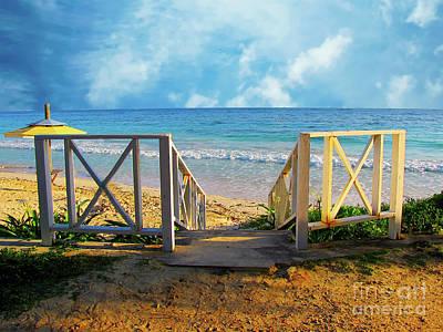 World Forgotten - Beach Steps by Sherry Little Fawn Schuessler