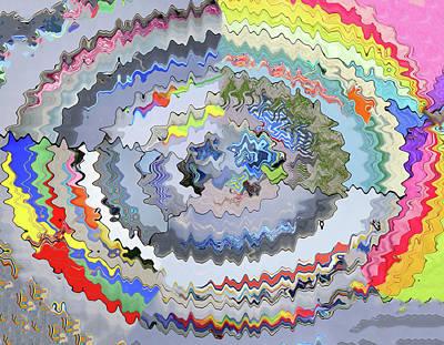 Impressionist Landscapes - Beach Umbrella by Allen Beatty