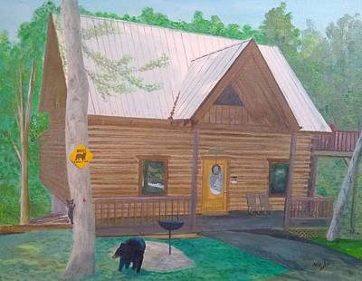 Painting - Bear Bottom by Mike Jenkins
