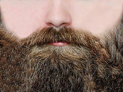 Photograph - Beard Face Mask by Steve Lockwood