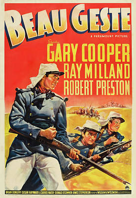 Royalty-Free and Rights-Managed Images - Beau Geste, with Gary Cooper, 1939 by Stars on Art