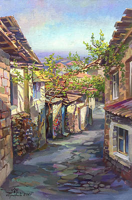 Painting - Beautiful and sunny day in Kond by Meruzhan Khachatryan