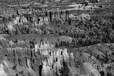 Ethereal - Beautiful Bryce Canyon National Park Beautiful BW by Wayne Moran
