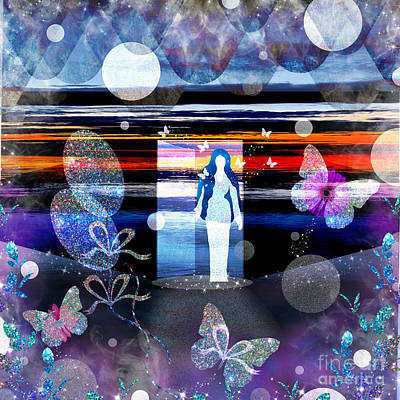 Mixed Media Royalty Free Images - Beautiful Dreamer Royalty-Free Image by Diamante Lavendar