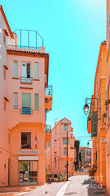 Royalty-Free and Rights-Managed Images - Beautiful Exotic Architecture, Cannes City Street, Historic Houses Downtown Cannes, French Riviera by Radu Bercan