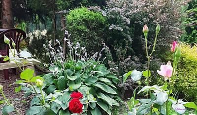 Mixed Media Royalty Free Images - Beautiful Garden Royalty-Free Image by Romuald  Henry Wasielewski