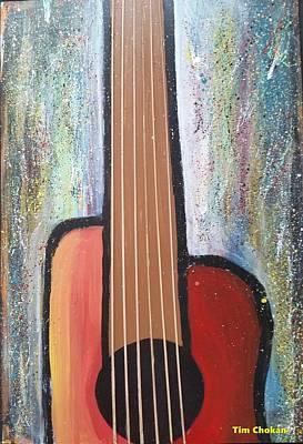Pop Art - Beautiful Guitar by Tim Chokan