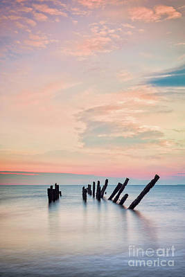 Minimalist Movie Quotes - Beautiful Seascape at Spurn Point, Yorkshire by Colin and Linda McKie