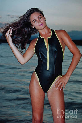 Steven Krull Royalty-Free and Rights-Managed Images - Beautiful Swimsuit Model Posing in One Piece by Steven Krull