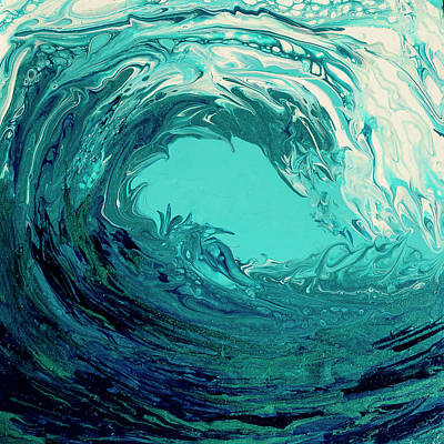 Painting - Beautiful Wave II by Dara Dodson