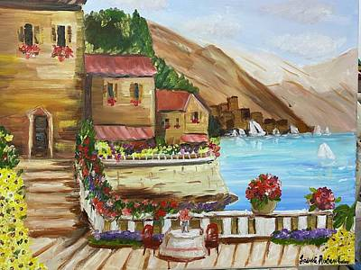 Painting - Beauty in Italy by Laurie Rosenbaum