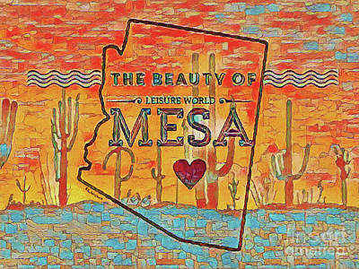 Mixed Media Royalty Free Images - Beauty of Leisure World Mesa Royalty-Free Image by Linda Weinstock