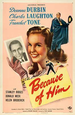 Royalty-Free and Rights-Managed Images - Because of Him, with Deanna Durbin, 1946 by Stars on Art