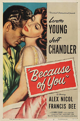 Royalty-Free and Rights-Managed Images - Because of You poster 1952 by Stars on Art