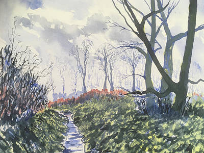 Painting - Beck in Back Lane by Glenn Marshall