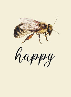 Recently Sold - Animals Digital Art - Bee happy no background by Mihaela Pater