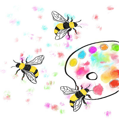 Digital Art - Bee Maker Artists by Dara Thomson
