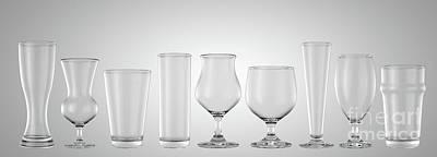 Digital Art - Beer Pints Glasses by Allan Swart