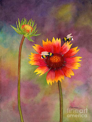 Rights Managed Images - Bees on a Blanket Royalty-Free Image by Hailey E Herrera