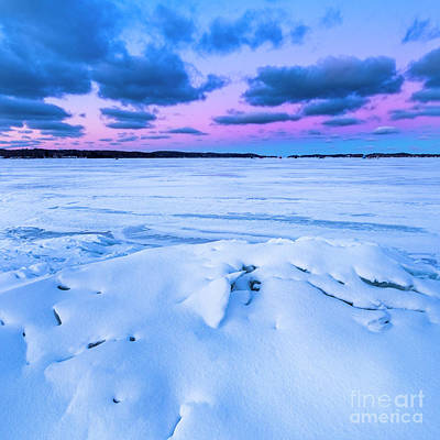Royalty-Free and Rights-Managed Images - Before Sunrise in Onekama in January by Twenty Two North Photography