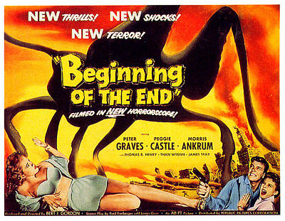 Mixed Media Royalty Free Images - Beginning of the End movie poster 1957 Royalty-Free Image by Stars on Art