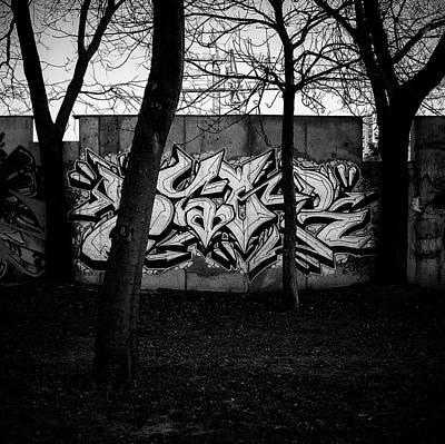 Namaste With Pixels Royalty Free Images - Behind Trees Royalty-Free Image by Eduardo Avanzini