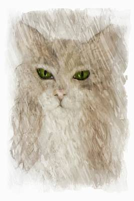 Science Collection - Beige Cat  by Sheri McLeroy