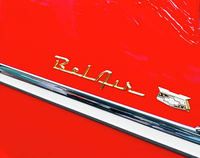 Farm Life Paintings Rob Moline - Bel Air Chevrolet Emblem by James C Richardson