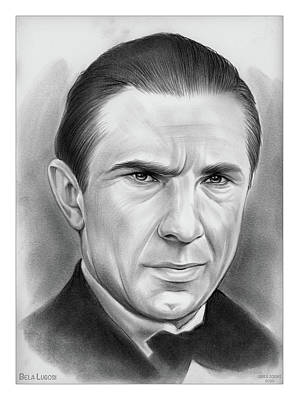 Drawings Royalty Free Images - Bela Lugosi - Pencil Royalty-Free Image by Greg Joens