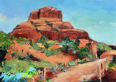 Classical Masterpiece Still Life Paintings - Bell Rock Path - Sedona by Elise Palmigiani
