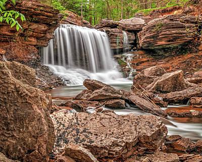 Namaste With Pixels Royalty Free Images - Bella Vista Lake Ann Falls - Northwest Arkansas Royalty-Free Image by Gregory Ballos